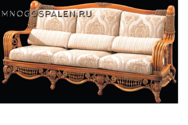 Диван 3-х местный Alexander купить в салоне-студии мебели Барселона mnogospalen.ru много спален мебель Италии классические современные