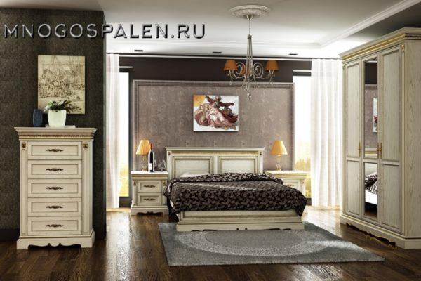 Спальня «Милана» купить в салоне-студии мебели Барселона mnogospalen.ru много спален мебель Италии классические современные