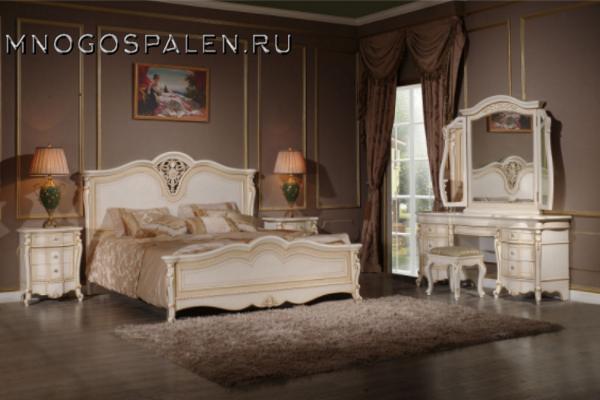 Спальня MILANA AVORIO купить в салоне-студии мебели Барселона mnogospalen.ru много спален мебель Италии классические современные