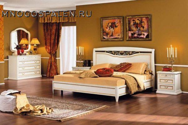 Спальня Luigi белая MIASSMOBILI купить в салоне-студии мебели Барселона mnogospalen.ru много спален мебель Италии классические современные