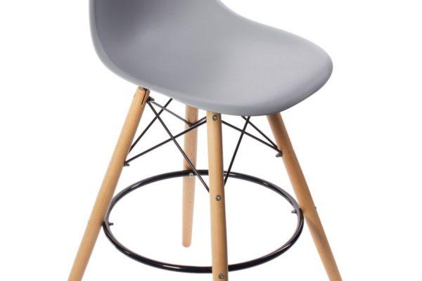 Стул Eames барный серый купить в салоне-студии мебели Барселона mnogospalen.ru много спален мебель Италии классические современные