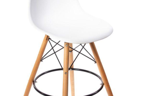 Стул Eames барный белый купить в салоне-студии мебели Барселона mnogospalen.ru много спален мебель Италии классические современные