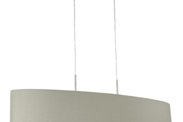 31585 Подвес PASTERI, 2х60W (E27), 1000х280, никель мат./текстиль, серо-коричневый купить в салоне-студии мебели Барселона mnogospalen.ru много спален мебель Италии классические современные
