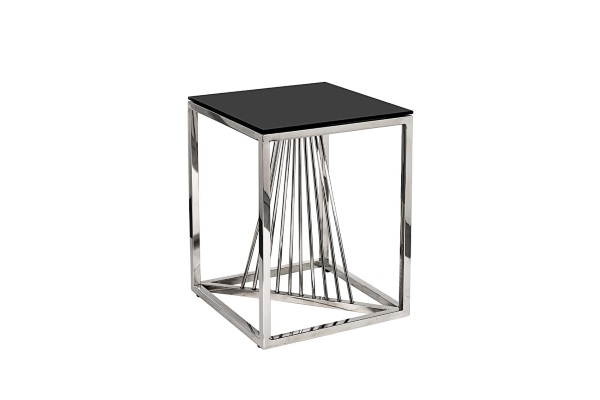 Столик журнальный черное стекло/серебро 13RXET8083M-SILVER купить в салоне-студии мебели Барселона mnogospalen.ru много спален мебель Италии классические современные